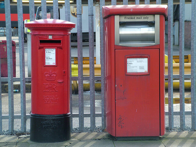 Franked Mail Post Box